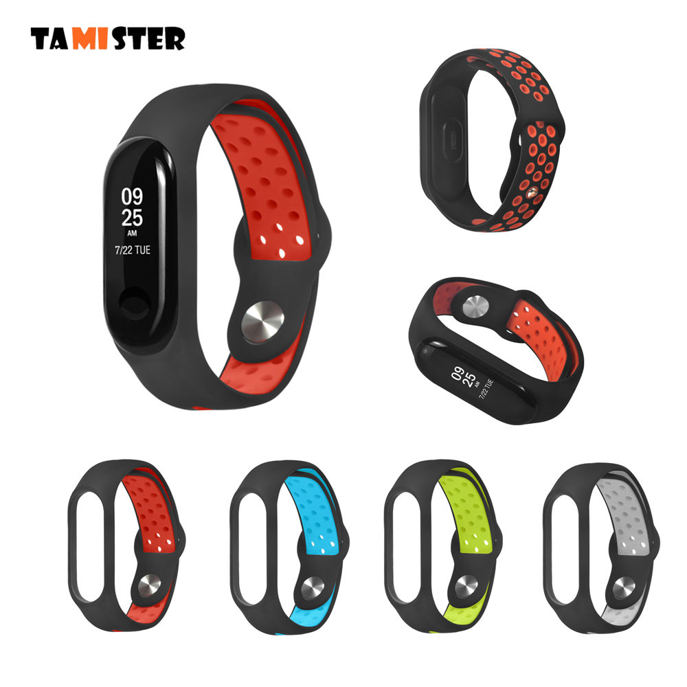 Replacement Wrist Strap For Mi Band 4 Strap Accessories For Xiaomi Mi Band 4/3 Sports Wristband Silicone Bracelet For Miband 3/4