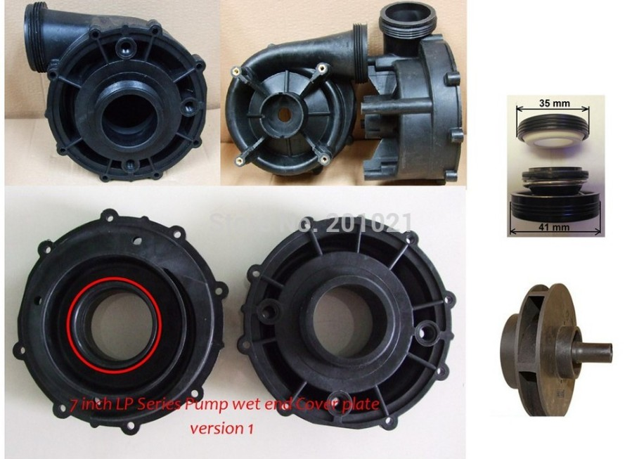LX LP250 Complete Pump Wet End part Jazzi spa wet end LP 250 LX 250,including pump body,pump cover,impeller,seal lx pump 56 frame wet end pump cover 7 5 inch fit wua series and lp series pump produced before 2008 year