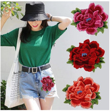 цена на Superior Quality  Flower Embroidered Patches for Clothes Applique Sticker on Clothing Lace Dress Badges Applications Stripes