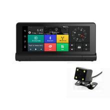 1Set 4G Mirror Car DVR Recorder with 1080P WIFI Dashcam 7 Inch GPS Navigator Remote