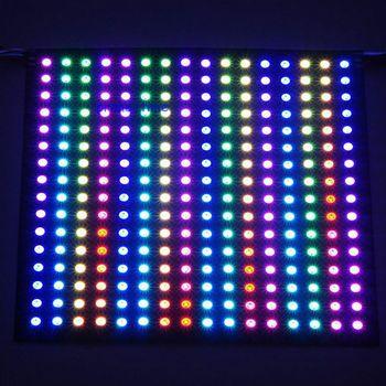 16*16 بكسل 256 بكسل WS2812B LED برمجة الرقمية لوح مرن شاشة فردي عنونة RGB كامل اللون DC5V