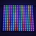 16*16 Pixels 256 Pixels WS2812B Programável LEVOU Tela Do Painel Flexível Digitais Endereçável Individualmente RGB Full Color DC5V