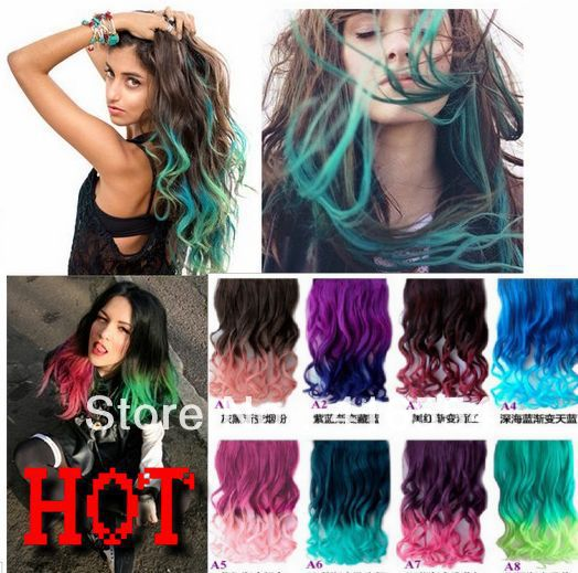 NEW long hair ponytail synthetic hair extension with 5 clips ...