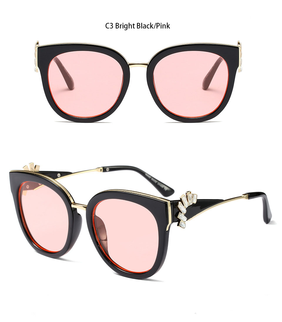 HTB1MTAdXPuhSKJjSspjq6Ai8VXas - Oversized Crystal Acetate Black Cat Eye Sunglasses 2018