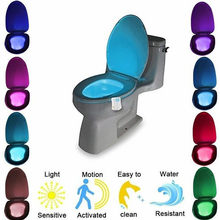 Toilet Lamp Automatic Change Colors LED Light Night Intelligent Body Motion Sensor Portable Seat For Emergency Bathroom /WC@3(China)