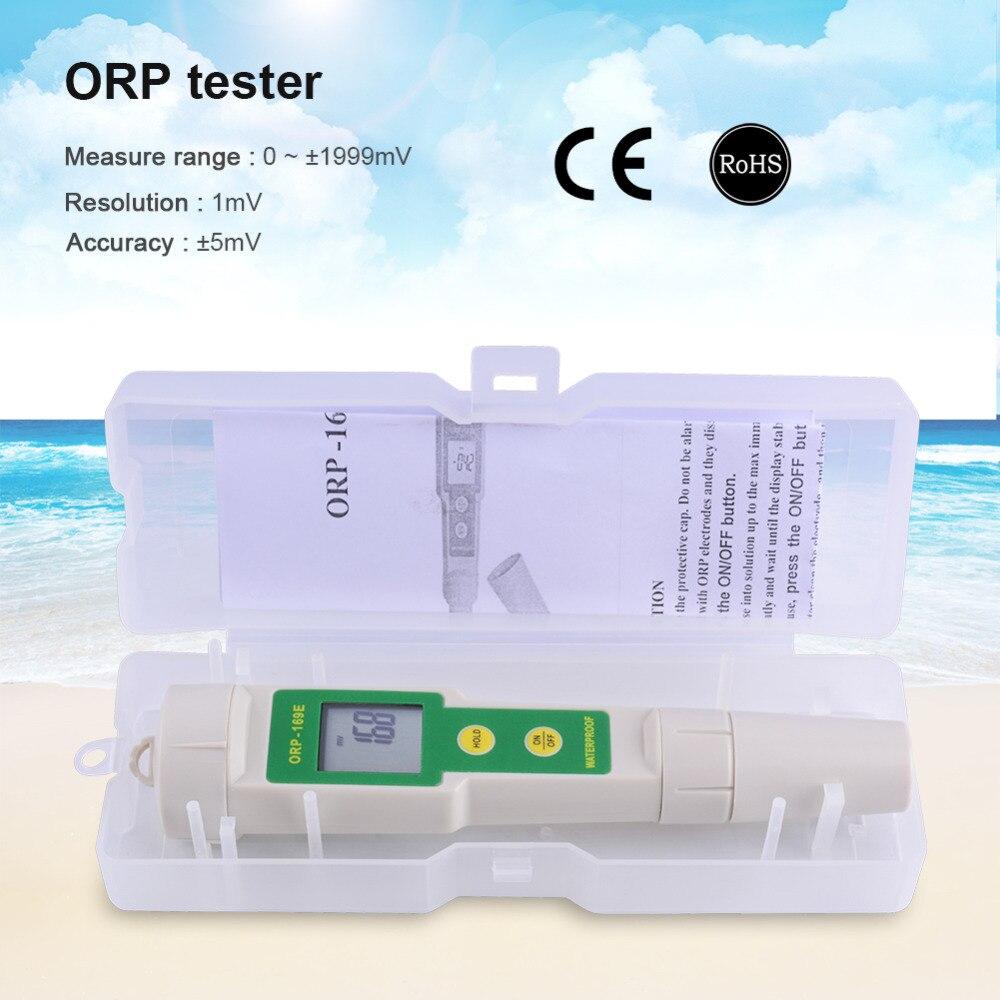 Display Digital Medidor de Água ORP Testador Água 0 ~ +/-1999mV Teste Caneta Teste de Potencial Redox Potencial Negativo caixa de Embalagem De plástico