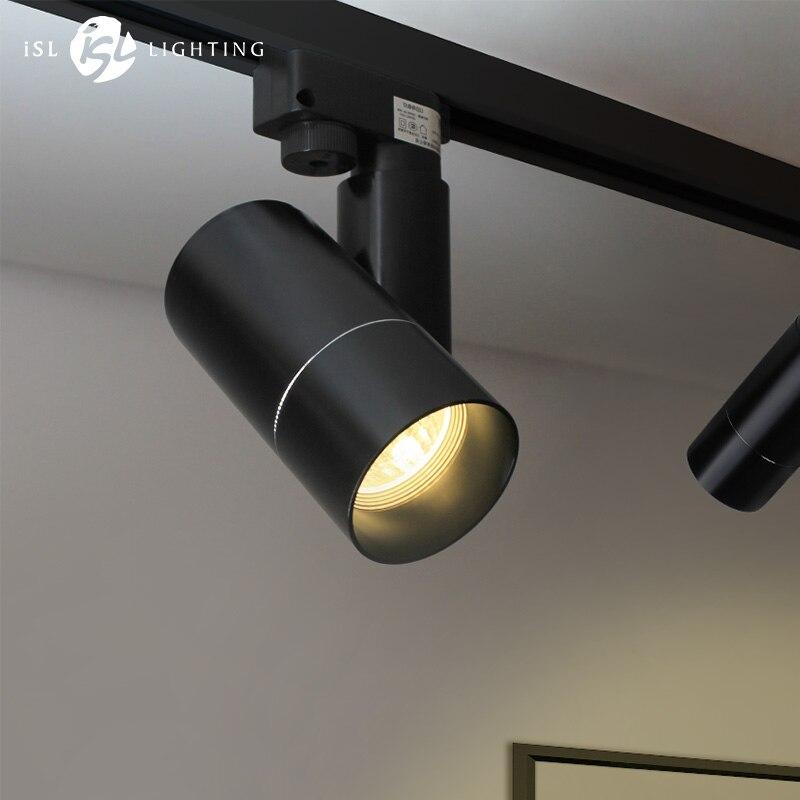ISL Moderne LED Piste Projecteurs COB Plafond Lampes 360 + 180 Angle Réglable AC85-260V 5 w 7 w Luminaires salon Boutique