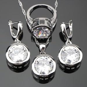 Round Silver 925 Pure White Stones Costu