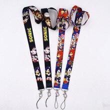 1Pcs 2styles SONIC MobilePhone nyakpánt kulcskártya ID lánc nyakpánt párt ajándék