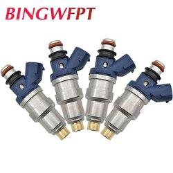 4 sztuk 23250-75040 23209-75040 23209-79085 wtryskiwacze paliwa dla TOYOTA azji Hilux 2.4L 2RZ 1997 ~ 2005