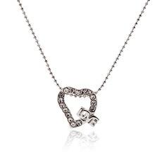 2015 lureme романтический выдалбливают сердце с кристалл ожерелья & подвески для женщин партии день святого валентина подарок
