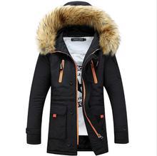 New 2017 Winter Jacket Fur Collar Men'S Cotton-padded Coat Thickening Jacket Parka Men Manteau Homme w499