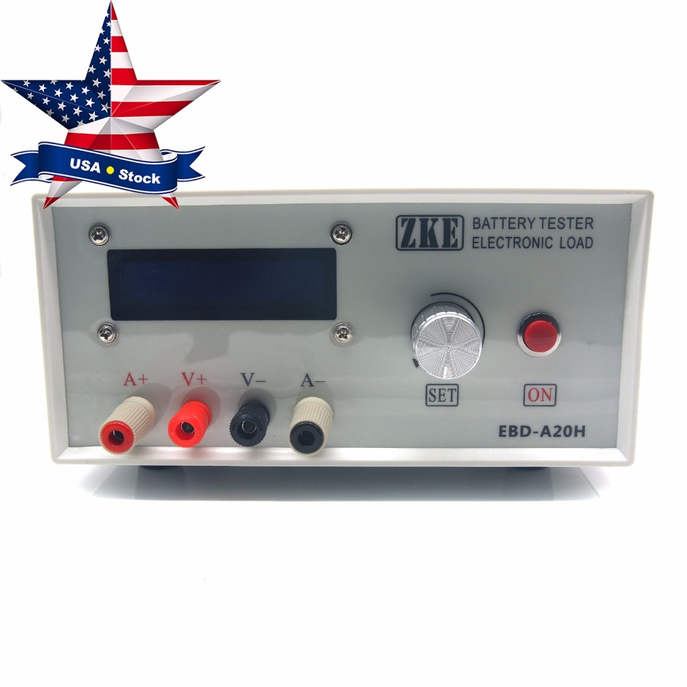 Electronic Load EBD-A20H Battery Capacity Tester Power Supply Test Model Power Battery Discharge AC USA Stock battery capacity testing electronic load nicd and nimh mobile power supply tester tec 06 lithium battery