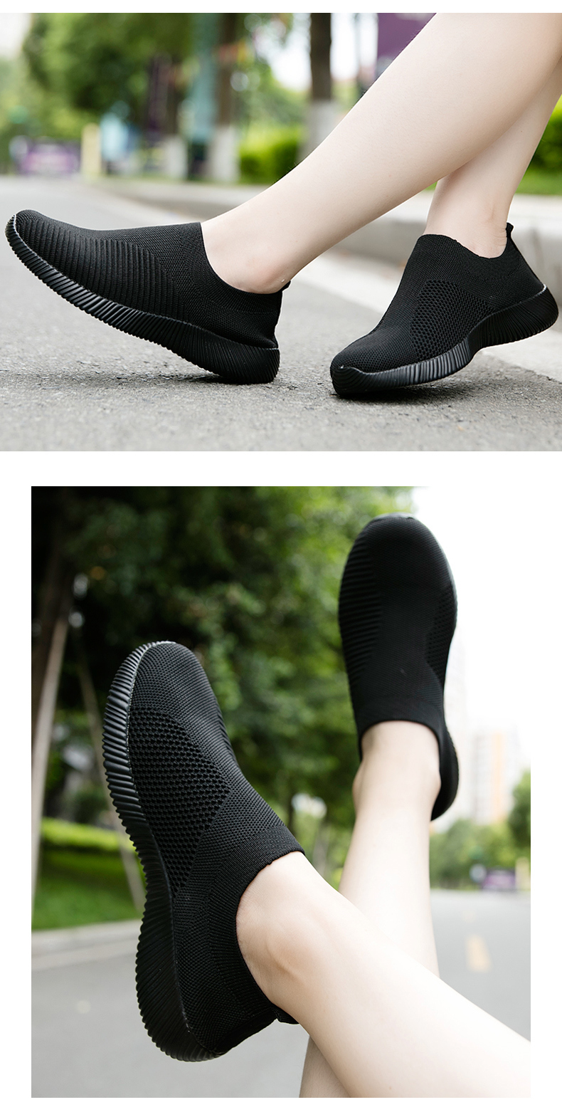 Slip On Flying Knit Women Fashion Sneakers Breathable Flat Heel Casual Shoes Round Toe Low Top Women Shoes XU034 (22)