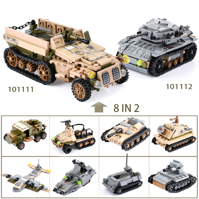 Image 5 - 1061+PCS Building Block Compatible LegoINGlys City Blocks Army Truck Building Blocks Military Vehicle Playmobil Toy For Children-in Blocks from Toys & Hobbies