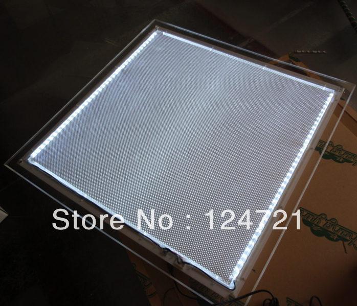 A1 Size Wall Mounted Display Frame, Slim Acrylic Crystal Led Light ...