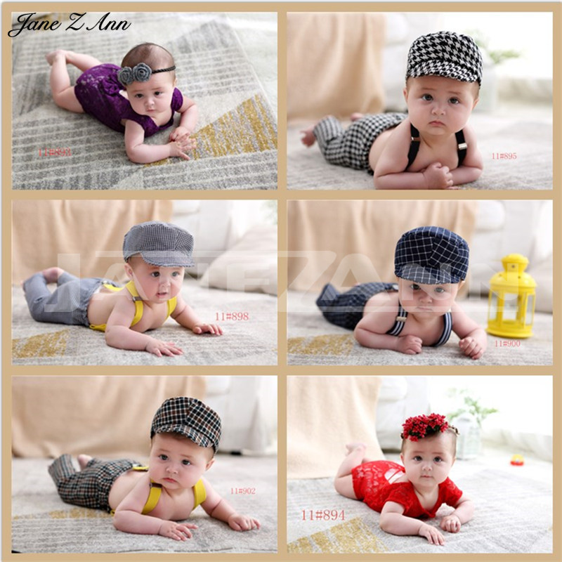 Detail Feedback Questions about Jane Z Ann Accesorios fotografia bebe 1  year Children infant photography clothing hat headband +clothes studio  shooting ... 998481ec3e9