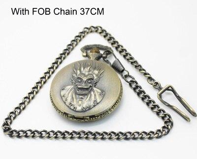 1060) винтажное бронзовое ожерелье для карманных часов, диаметр 4,7 см - Цвет: With FOB Chain 37CM