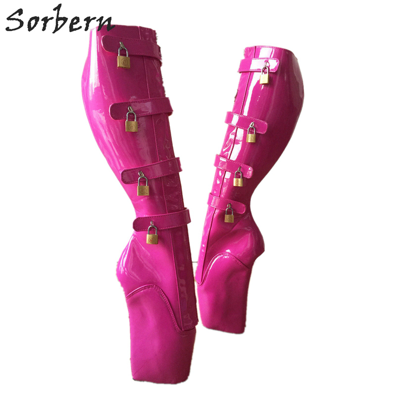 Detail Feedback Questions about Sorbern Peach Boots Women Size 10 Goth  Heels Knee High Ladies Shoes Ballet Wedge Heels Boots Females Heel Boot  Women Multi ... 7ef91dbb145e