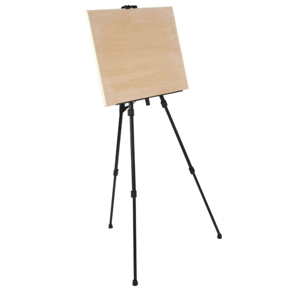 Foldable Metal Product Display Exhibition Triangular Rack Iron Easel Palette Rack Sketch Drawing Telescopic Tripod foldable cup rack