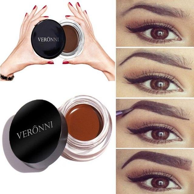עיניים גבות גוון איפור כלי ערכת Waterproof מצח 8 צבע פיגמנט שחור חום חינה גבות ג 'ל