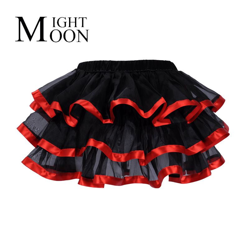 MOONIGHT Multilayer Ball Gown Skirts New Hot Ladies Tutu Mini Skirt Sexy Women Short Veil Skirt Party Clubwear