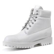 2016แฟชั่นใหม่ผู้หญิงรองเท้าไม้สีขาวหนังทำงานมาร์ตินบู๊ทส์เลดี้ฤดูหนาวสบายๆข้อเท้าแพลตฟอร์มบู๊ทส์แบรนด์แบนZ Apatos
