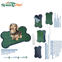 Pet Potty Three Layer Dog Toilet Artificial Pet Grass Patch for Dogs to Pee On Great for Puppy Potty Training as an Litter Box