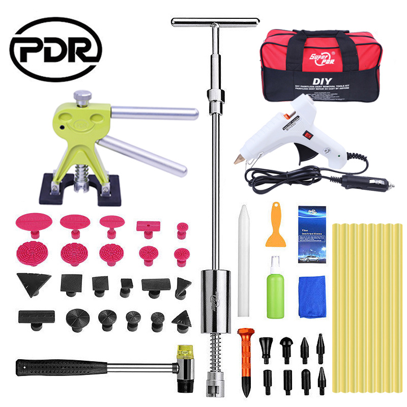 PDR Tools Tool To Remove Dents Auto Tool Set Car Body Repair Kit Dent Puller Kit Reverse Hammer Lifter Removal Glue Gun Suckers watch link removal kit adjuster repair tool set with 5 pins