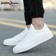 2019 Men Sneakers Soft Leather Casual Shoes Flat Fashion Brand Mens White Black Top Quality men