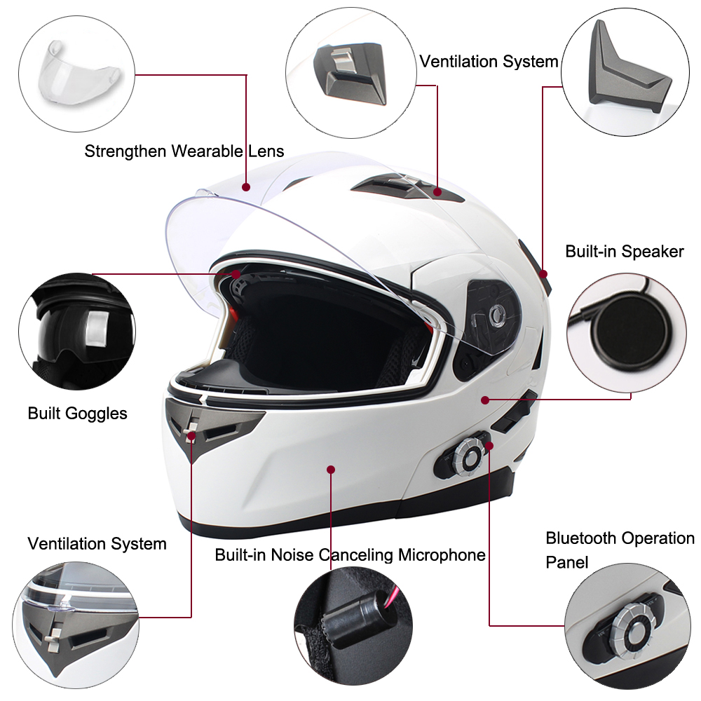 2017 New Arrival Bm2 S Smart Motorcycle Bluetooth Helmet Built In Intercom System With Fm Radio 500m Bt Interphone Headsets From Automobiles