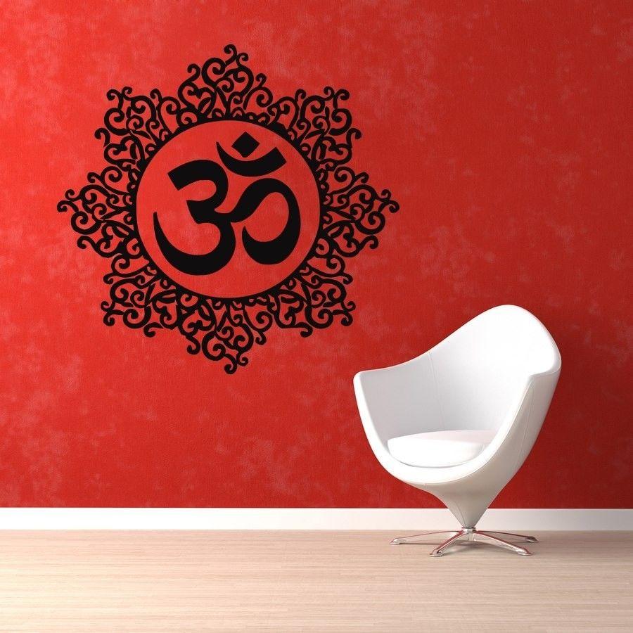 D358 Wandtattoos Yoga Mandala Muster Om Zeichen Vinyl Kunst Wandaufkleber Wandgemlde Fr Wohnzimmer Home Decor