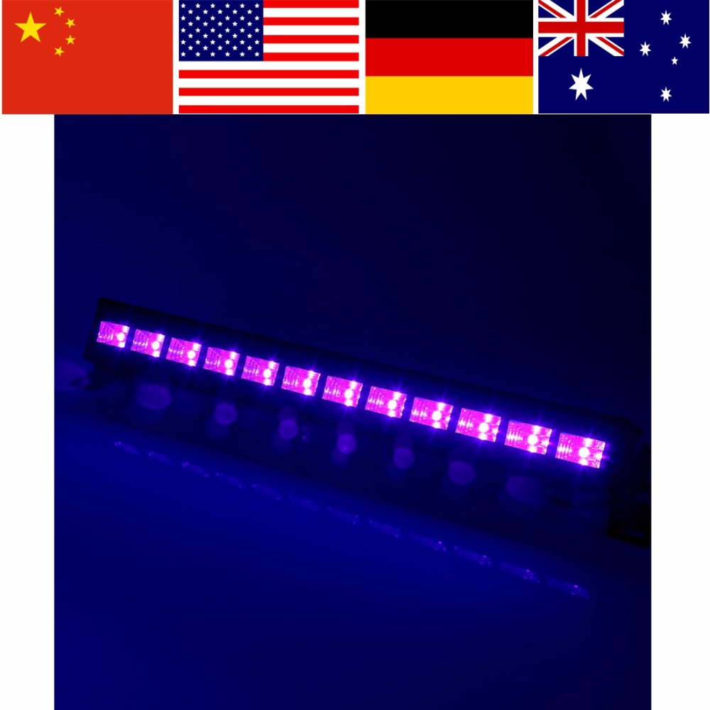 LED Stage Light Bar 12 * 3W LED Disco Light Wall Wash Lighting Party Lights for Disco DJ KTV Club Party 220-240V EU/US/AU Plug ...