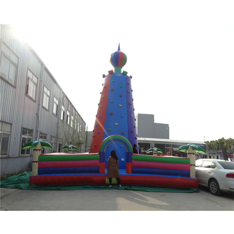 PVC Factory Inflatable Rock Climbing Wall with Safety BeltsPVC Factory Inflatable Rock Climbing Wall with Safety Belts