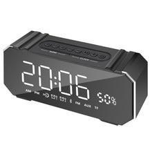 Портативный Bluetooth Динамик Колонка Беспроводной Стерео Soundbox MIC Поддержка время fm часы Радио сигнализации светодиодный Динамик для ноутбука телефон