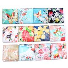 Onwear mix borboleta flor foto vidro cabochão quadrado 25mm 20mm 30mm 12 milímetros diy acessórios apartamento de volta para fazer jóias