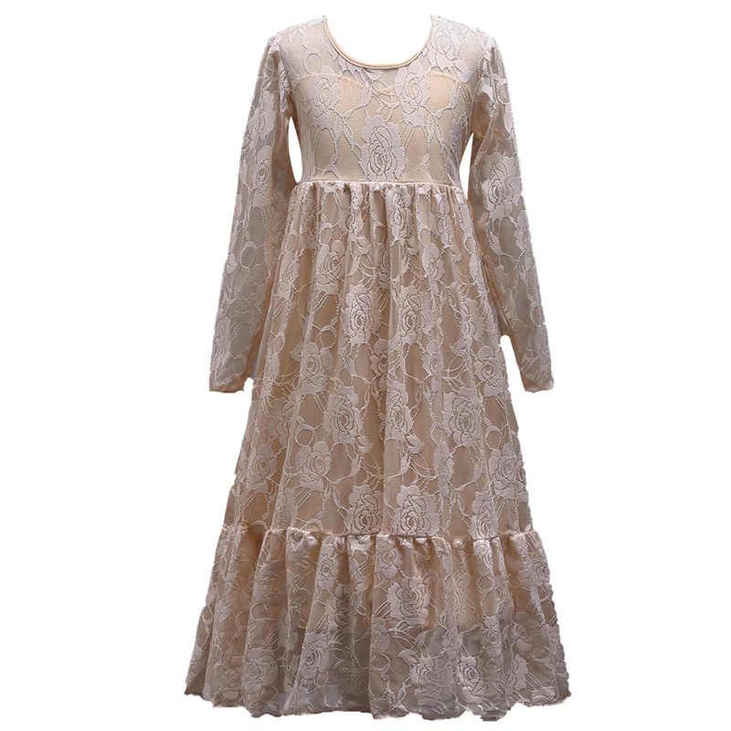 בנות חתונת שמלת קיץ תחרה ארוך שמלות נסיכת ילדים שמלות בנות מקסי שמלה אלגנטית Vestidos 6 7 8 9 10 11 12 שנים