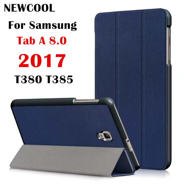 Case for Galaxy Tab A2 S T380 ,Magnet Flip Leather Case Smart Cover for Samsung Tab A 8.0 SM-T380 T385 8.0inch Tablet case cartoon colorful case for samsung galaxy tab a 8 0 t380 sm t385 2017 smart cover funda tablet stand pu leather shell film pen