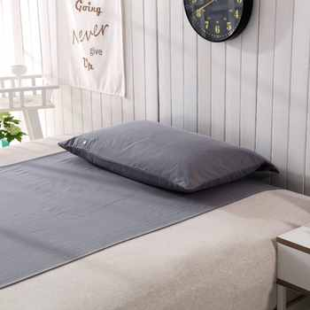 Half bed Sheet (90 x 270cm) with 1 pillow case EARTHING Silver Antimicrobial Fabric Conductive Grounding kit set