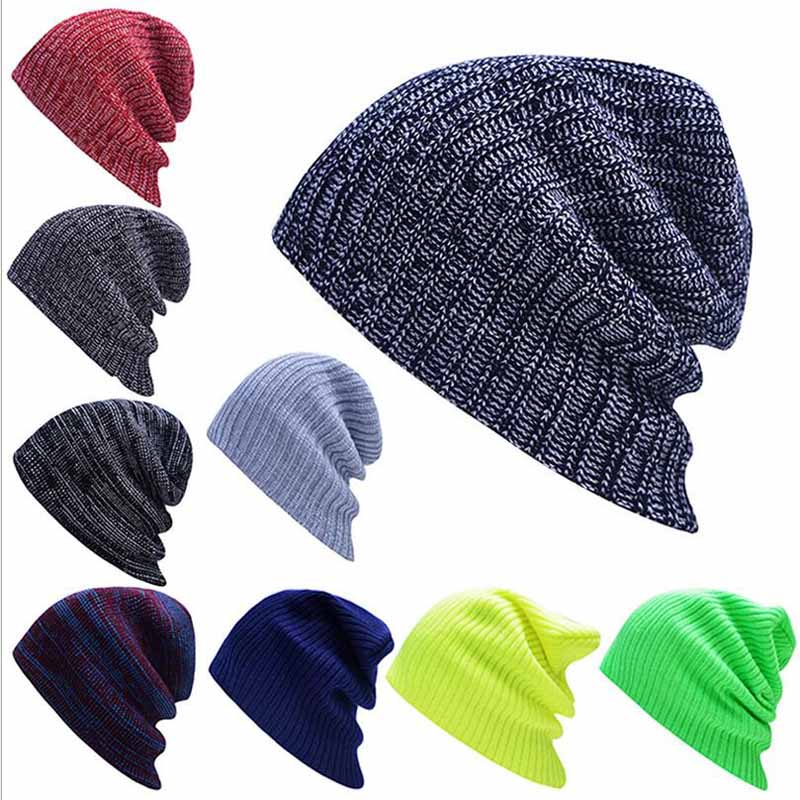 2017 Hot Sales Knitting Hat Winter Hat For Man Skullies Beanies Warm Cap Man Beanie Hat High Quality Headgear Drop Shipping skullies hot sale candy sets color pointed hat knitting hat sets hat cap 1866951