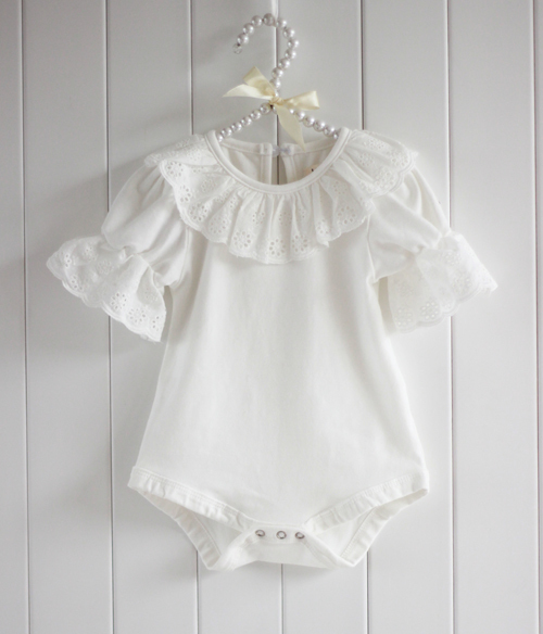 Summer-Breathable-Cute-Lacework-Kid-Baby-Jumpsuit-Bubble-Sleeve-Ruffled-Lace-Collar-Bodysuit-Shirt-1