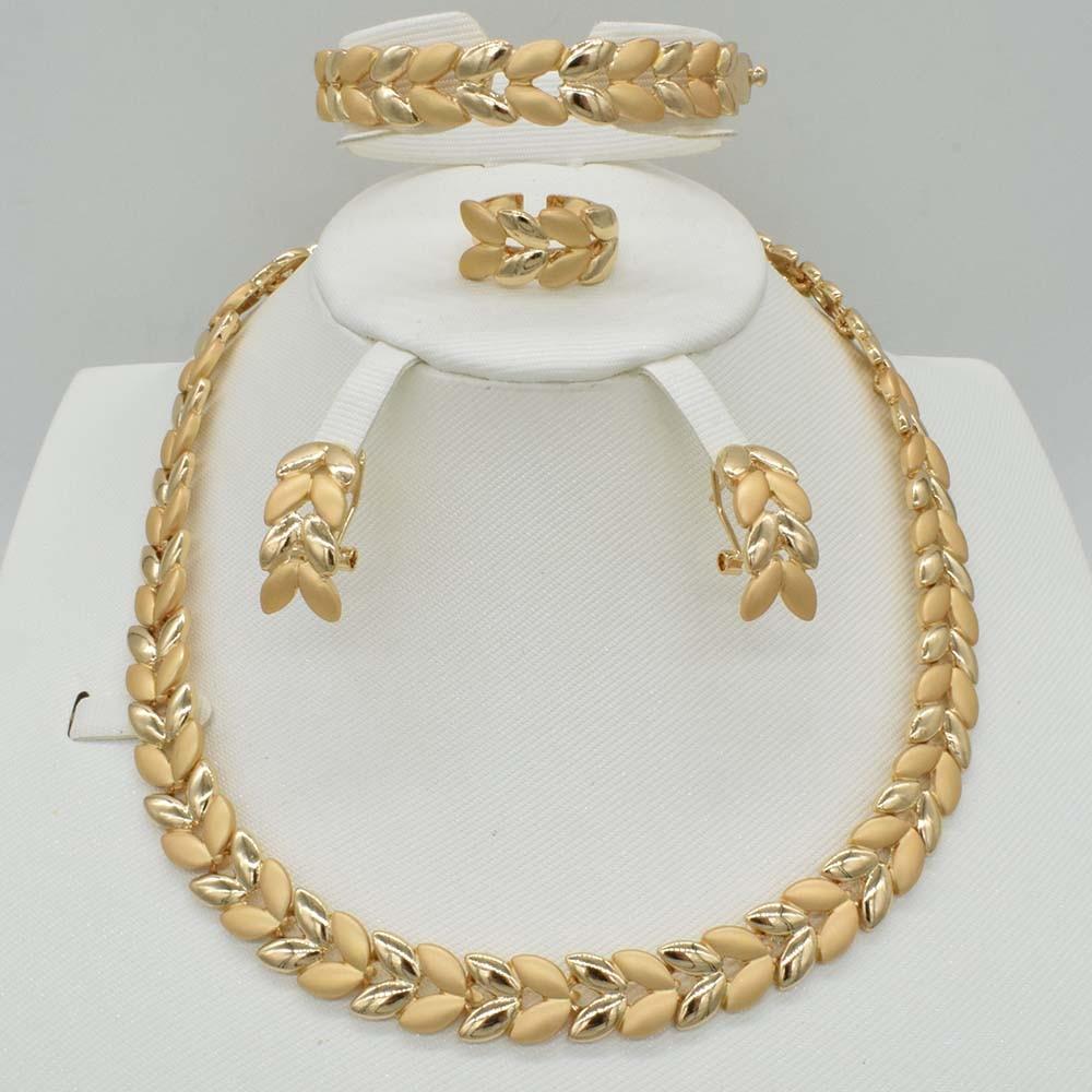 2018 India Jewelry Dubai Gold Jewelry Women Fashion: 2018 NEW 4SETS Hot Sale Dubai Gold Plat High Quality