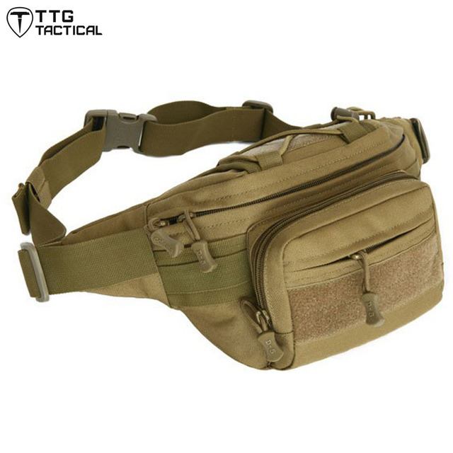 Bolso de La Cintura Solo bolso de Hombro de Nylon Impermeable MOLLE Militar Bolsa de Asalto militar Bolso de La Cintura