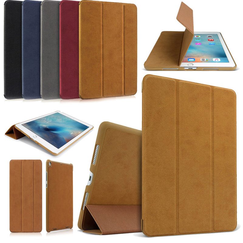 Case For Apple iPad 6th 9.7 2018 A1893 A1954 Smart Wake-up Sleep Stand Ultra-thin Folding PU Leather Flip Cover Funda Coque 20 5cm stylish pu leather case for ipad mini1 2 smart stand magnetic sleep wake ultra thin up pouch cover colorful