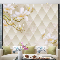 custom wall mural 3D stereo modern minimalist wallpaper mural bedroom living room TV background jade orchid mural