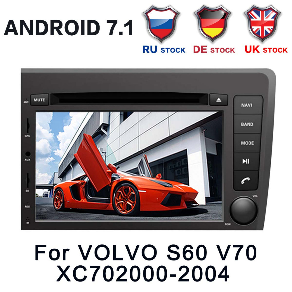 "Krando Android 7 1 Car Radio Dvd Multimedia For Volvo S60: 7""2 Din 4 CORE Android7.1 Car DVD Player Multimdia Stereo"