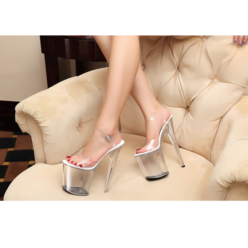 2fcac53c8a3 Товар Extra High Heels crystal Shoes Women Pumps sexy transparent 12 ...