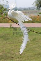 About 28x20cm Spreading Wings White Phoenix Bird Model Toy Polyethylene Resin Handicraft Home Decoration A1753