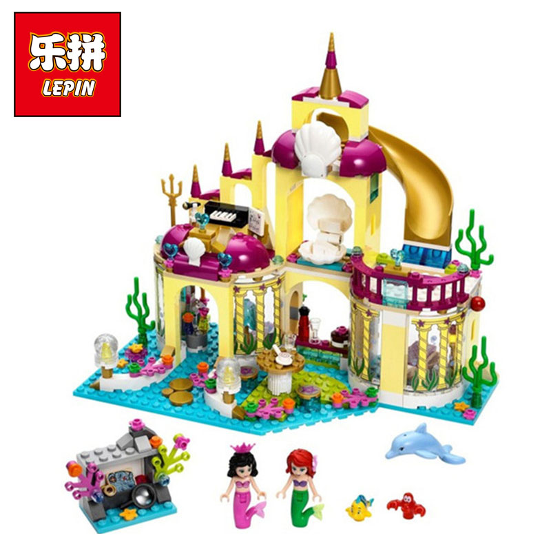LEPIN 10436 Princess Undersea Palace Model Building Kits Blocks Bricks Girl Toy Gift Compatible legoing Friends 41063