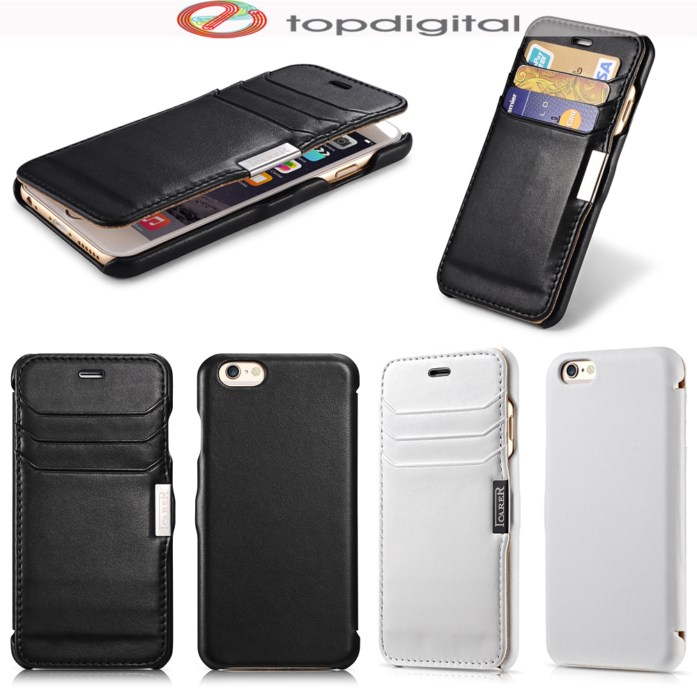 051f0a01a6f03 icarer Luxury for iPhone 6 Case Cover Flip Real Leather for iPhone 6s  Wallet Case Card Magnet Folio Protective Cover Card Slots-in Flip Cases  from ...
